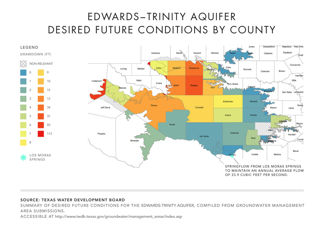 Edwards Trinity Aquifer Desired Future Conditions by County